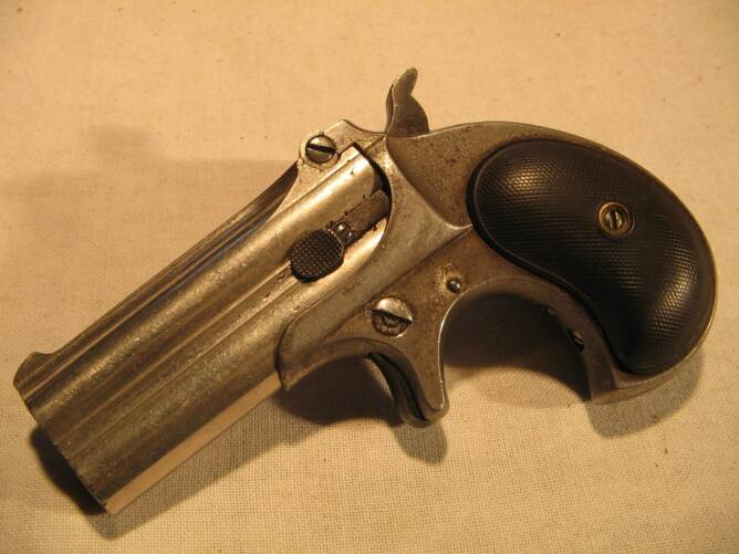 Remington Double Derringer Over Under 41 Nickel NR
